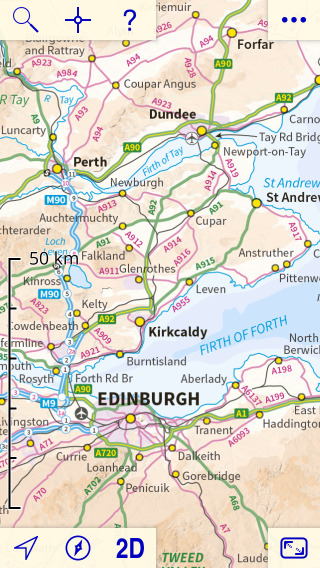 Road Map Of England And Scotland.Uk Map App Introduction
